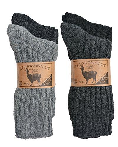 SPITZE SOCKS Alpaka Socken (39-42, Dunkeltöne)