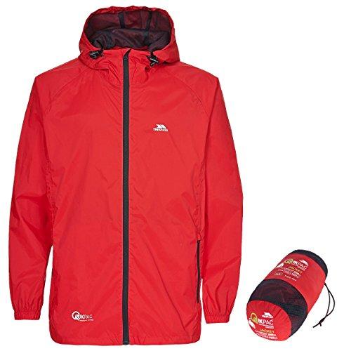 Trespass Qikpac Jacket Kompakt Zusammenrollbare Wasserdichte Regenjacke / Funktionsjacke / Wetterjacke für Damen und Herren / Unisex