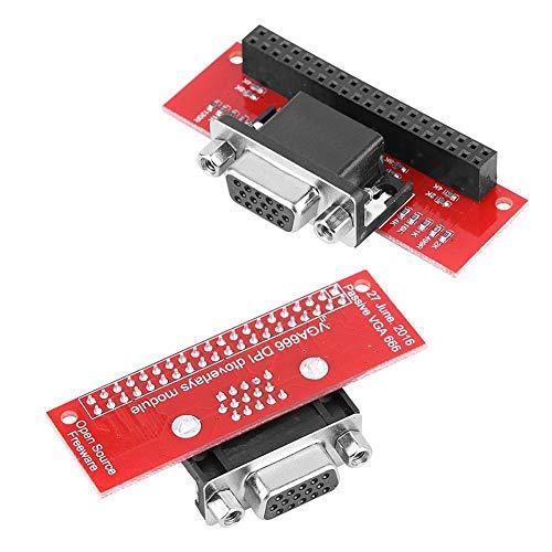 Dandeliondeme Gert-VGA VGA666 Modul GPIO auf VGA Adapter Board für Raspberry Pi 2B/3/Model B+