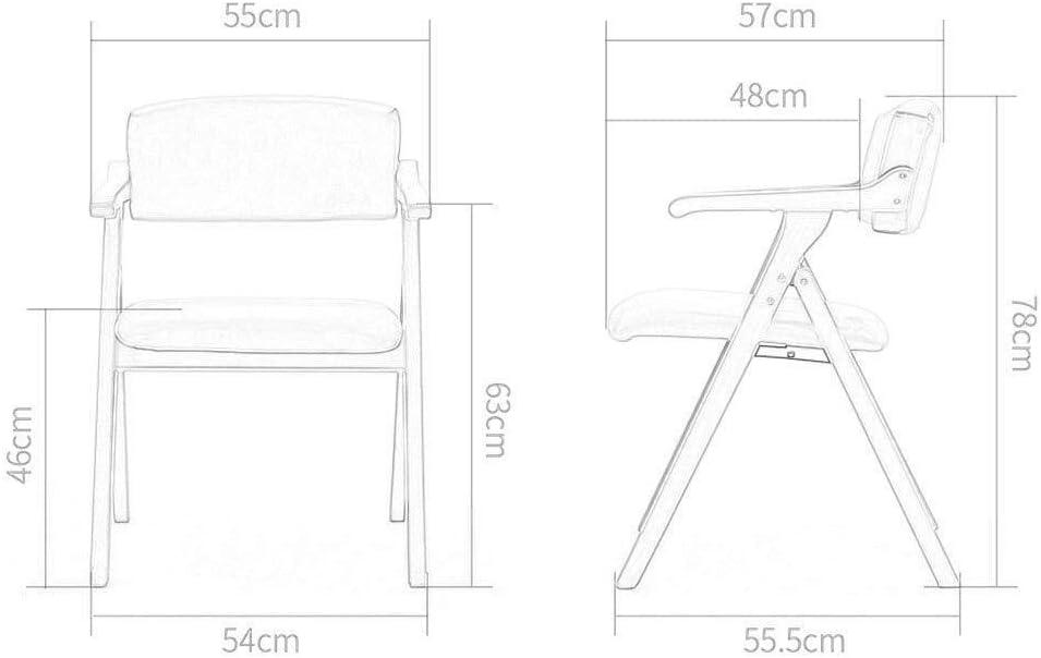 Bois massif Chaise pliante Dossier Chaise de salle à manger Chaise de réception Ménage Loisir bureau de famille Café (Color : A) C