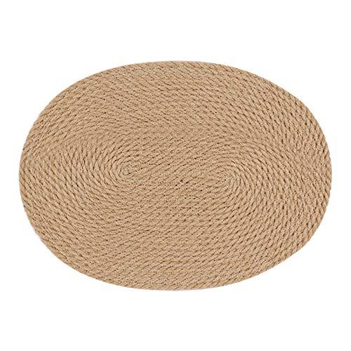 MagiDeal Isolamento Termico Tovaglietta di Lino di Paglia Treccia Piastra Tazza di Pot Tovaglietta per Tavolo da Pranzo - 30x40cm