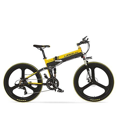 GTYW, Elettrico, Pieghevole, Bicicletta, Mountain Bike, Ciclomotore Adulto, 48V, 26 Pollici, Mountain Bike, Alimentazione, Bicicletta, Durata Della Batteria 60KM