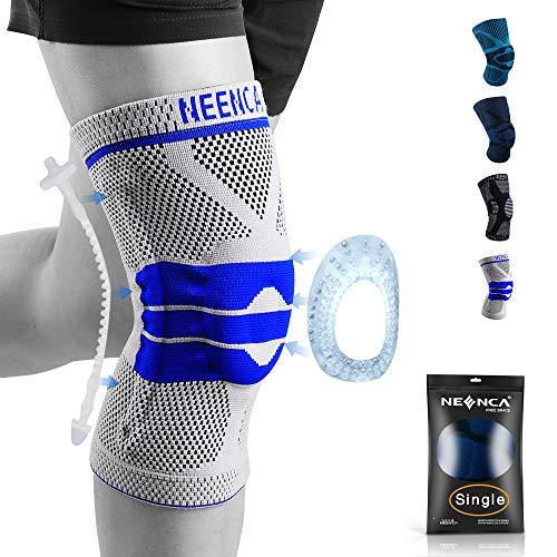NEENCA Tutore ginocchio,Tutore Fascia per compressione ginocchio cuscinetti per rotula e supporto laterale,Supporto per ginocchia ad uso medico per corsa,lesioni al menisco,Artrite,Infortunio Sportivo