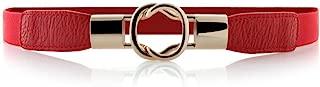 Womens Skinny Dress Belt for Ladies Fashion Elastic Waist Band Belts Gold Buckle