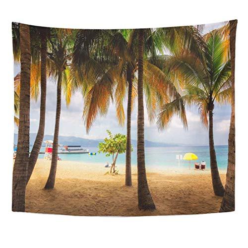 N\A Platzieren Sie Palmen am Strand von Jamaika in Montego Bay Home Decor Wandbehang für Wohnzimmer Schlafzimmer Wohnheim