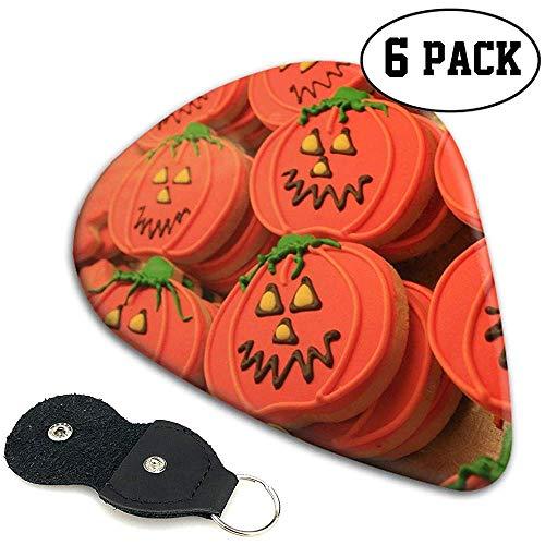 Celluloid Plektren Sampler Pick 6er Pack Halloween Kürbis Kekse Zuckerguss personalisiert