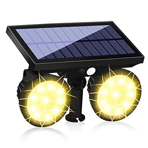 KEENZO Solar Gartenleuchte mit Bewegungsmelder, Solarlampen für außen, IP67 Wasserdicht Außen- Wandleuchte, Hell Solarleuchte für Garten, Eingangstür, Garage,Auffahrt, Pfad
