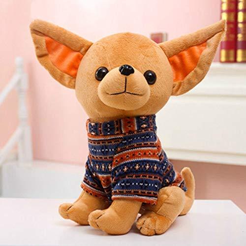 Leyue 32 cm Chihuahua vestidor de Peluche Peluche de Peluche muñeca niños bebé niños Muchacha Muchacha Juguetes Regalo de cumpleaños casa Tienda decoración