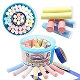 Smart Planet® Straßenmalkreide 43 Stück Kinderkreide 8 versch. Farben Kreide Stifte für Kinder...