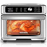 REDMOND Air Fryer Toaster Oven 23 Quart,12 in 1 Air Fryer Oven Dehydrator,1700W Toaster Oven Air Fryer Combo, Digital Convection Oven with 360°Hot Air Circulation, Slidable Crumb Tray,7 Accessories