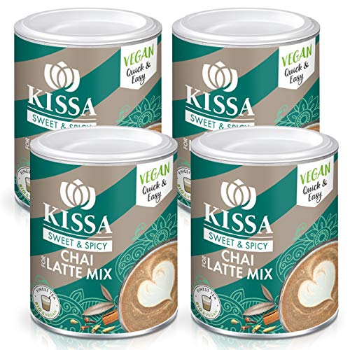 Set di 4 KISSA Chai for Latte Mix Biologico 120g