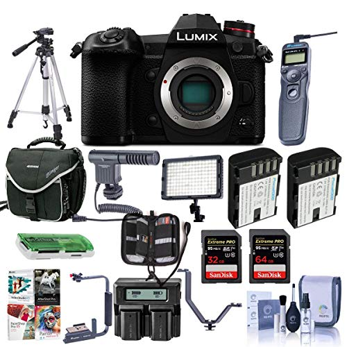 Panasonic Lumix G9 Mirrorless Camera Body, Black -...