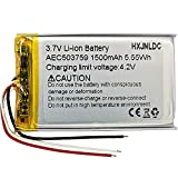 DC 3,7 V AEC503759 1500mah Li Ion Polymer Battery Replacement para Auriculares de Juego inalámbricos steelseries arctis 1 arctis 3 arctis 7
