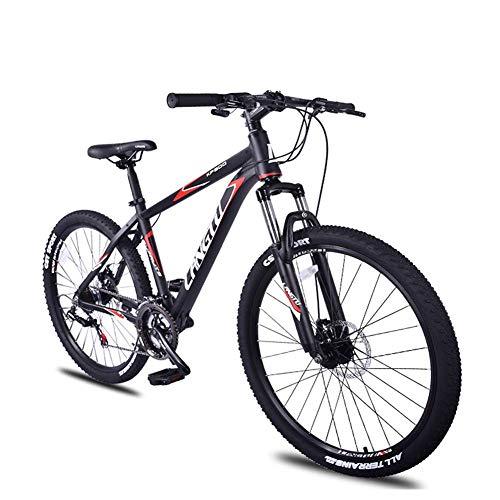 DJYD 21-Gang Mountain Bikes, 26-Zoll-Aluminium-Rahmen Hardtail Mountainbike, Kinder Erwachsene All Terrain Mountainbike, Anti-Rutsch-Fahrrad, Grün FDWFN (Color : Red)