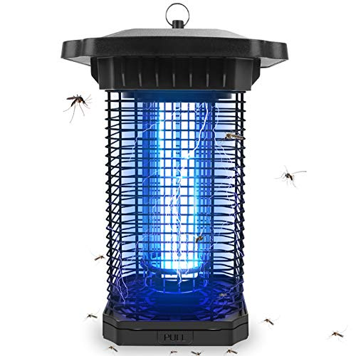 Mosquito Repellent Indoors Zapper,4000V Outdoor Waterproof Electric Bug Zapper Killer Lamp Plug In,Insect Attractant Trap,UV Light Flying Pest Repeller Mosquito Eradicator for Home Yard Patio Garden