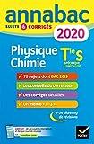 Annales Annabac 2020 Physique-chimie Tle S: sujets et corrigés du bac Terminale S