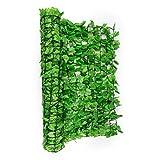 Blumfeldt Fency Dark Ivy Valla de protección Visual y antiviento (Malla sombreo 300x150 cm, Cubierta Exterior sombreadora, Pantalla privacidad balcón terraza jardín, imitación Hiedra Verde)