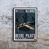 Star Wars propaganda The rebel alliance need pilots Help end the oppression of the Empire Poster (XL - 24 x 36 icnh (61 x 91 cm))