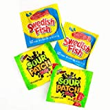 Bulk Candy Wholesale Soft & Chewy Variety Pack Swedish Fish Sour Patch Kids, 3 AM Snacks - 3.75 Pounds Box