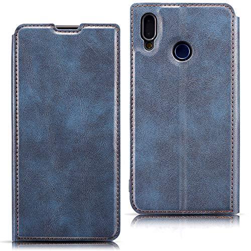 Hancda Hülle für Samsung Galaxy A20E [Nicht für A20], Handyhülle Ultra Dünn Schutzhülle Leder Flip Case Bookstyle Klassisch Lederhülle Klapphülle Inner Silikon Handytasche für Galaxy A20E,Blau
