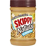 SKIPPY Natural Creamy Peanut Butter Spread, 15 Ounce (Pack of 8)