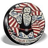 ETGeed Icon Nostalgic Der Starke mit Tätowierungen und Muskeln Circus Star Reifenabdeckung wasserdichte Radreifenabdeckung