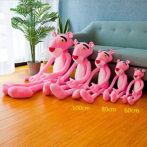 sylvian Wholesale Price Cute 60cm/80cm/100cm/ Pink Panther Stuffed Pillow Animals Lovely Pink Panther Plush Toy Christmas Birthday Gift (Classic Type, 80cm)
