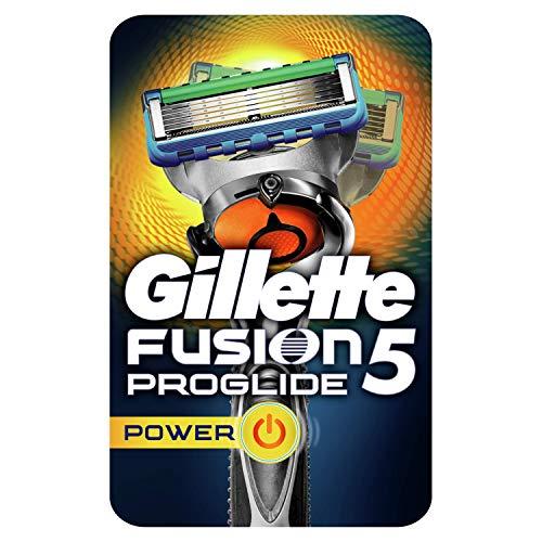 Gillette Fusion 5 ProGlide Power Rasierer Herren mit Trimmerklinge für Präzision und Gleitbeschichtung, Rasierer + 1 Rasierklinge