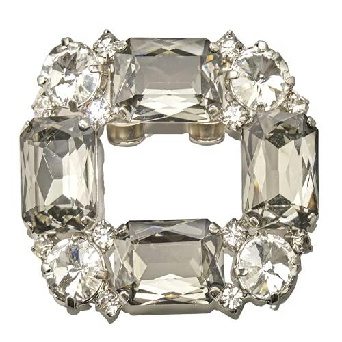 2 Broches Joya Para Calzado Mujer, Diamantes Joya pata ceremonias y eventos especiales, antialergico