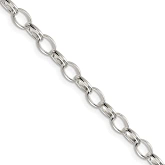 Black Bow Jewelry Chain Link Toe Ring in Sterling Silver