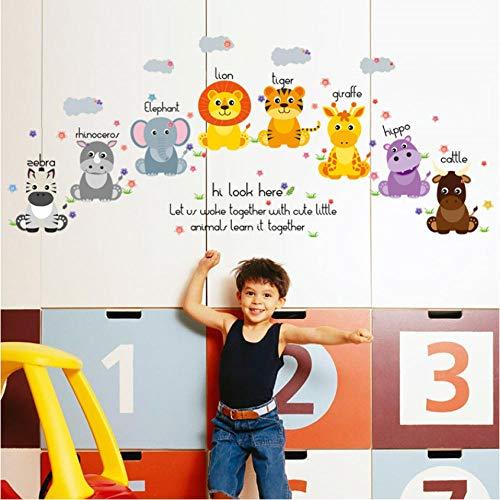 Sticker Stickers Muraux Safari Pour Chambre D'Enfant Home Decor Nursery Children Baby Vinyl House 50 * 70 Cm