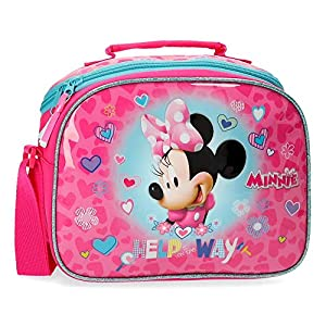 Disney Neceser Minnie Help Adaptable a Trolley con Bandolera, Rosa, 25 x 19 x 10 cm