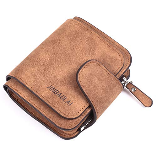 Gimax Wallets - Women's Wallets Best Sale Ladies Wallet Card Holder Purse with Coin Pocket Brand 3 Folds Male Money Purses Popular Fashion Short - (Color: Chocolate)