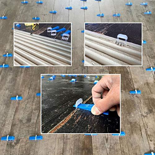 Lantelme Fliesen Nivelliersystem 3 mm Fugenbreite Basis Set 100 Zuglaschen 100 Keile 1 Zange Verlegesystem 5076