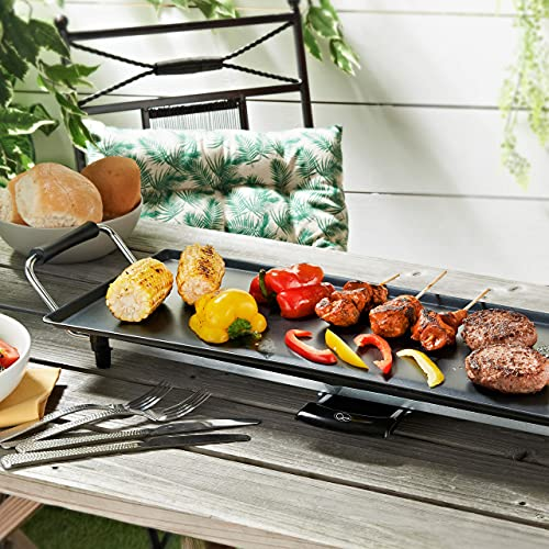 Quest 35490 Teppanyaki Grill / Non-Stick / Adjustable Thermostat / Accessories Included / Ideal for Dinner Parties
