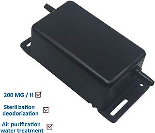 ICECON Purificador de Aire Accesorios, Mini ozono generador de Corriente alterna Comercial AO200w 200mg / H Miniatura Integrado máquina de ozono, para el Aire Acondicionado, lavavajillas, Piscina