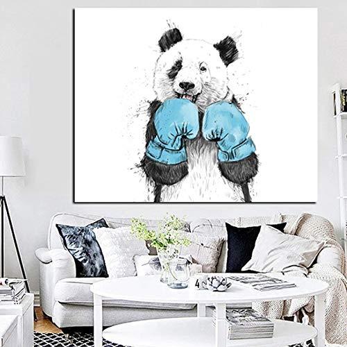 FXBSZ Panda poster druck leinwand malerei dekoration wohnzimmer dekoration malerei schlafzimmer dekoration malerei druck rahmenlose 20x30 cm
