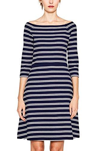 ESPRIT Damen 047EE1E008 Kleid, Mehrfarbig (Navy 400), 40 (Herstellergröße: L)