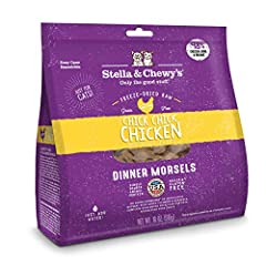 Only the good stuff! Cats naturally crave meat, much like they ate in the wild. That's why every batch of Chick, Chick, Chicken Freeze-Dried Raw Dinner Morsels cat food contains 98% cage-free chicken, organs and bone, plus taurine and probiotics for ...