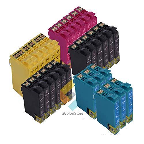 Kit de cartuchos compatibles con Epson serie T1631,T1632,T1633 yT1634, 30unidades Workforce WF2010W, WF2510WF, WF2520NF, WF2530WF, WF2540WF, WF2630WF, WF2650DWF y WF2660DWF