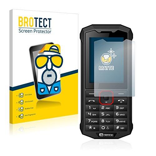 BROTECT 2X Entspiegelungs-Schutzfolie kompatibel mit Crosscall Spider X4 Bildschirmschutz-Folie Matt, Anti-Reflex, Anti-Fingerprint
