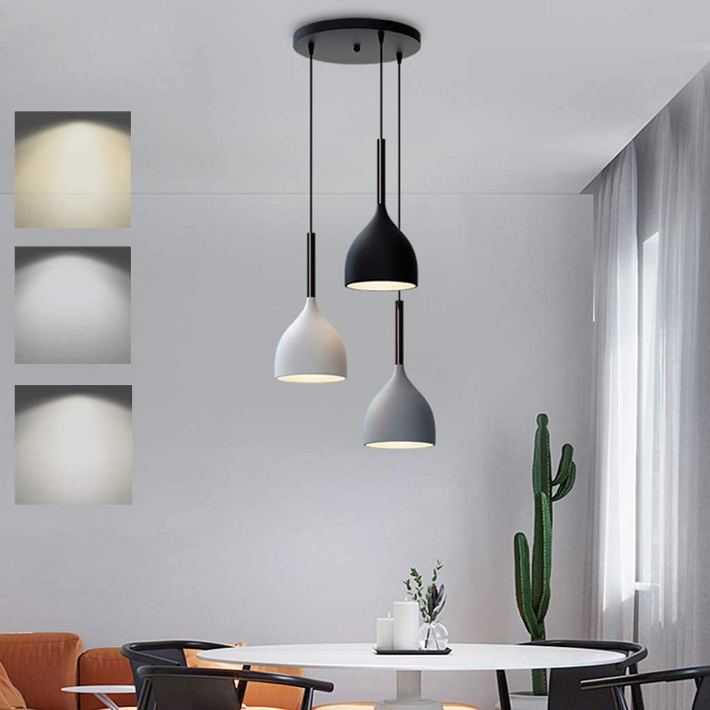 LED Pendant Light Metal Dimmable Dining Room Dining Table Lamp ...