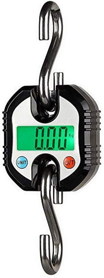 LJP Básculas Colgantes Mini Balanzas Electrónicas Escala De Bolsillo Ideal para La Agricultura Ganadera Portátil Industrial Que Pesa 150 KG / 0.15 (Color : Black)