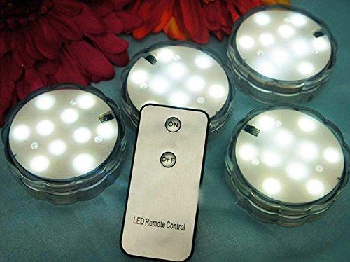 10 LED Remote Controlled Submersible LED white light Floralytes wedding light