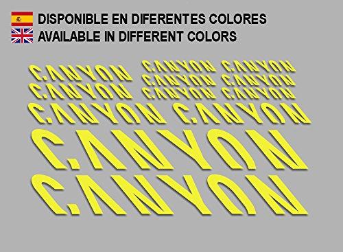 Ecoshirt T2-JSQO-76PM Aufkleber Canyon F157 Vinyl Adesivi Decal Aufkleber ・ŸŸ MTB Stickers Bike, gelb