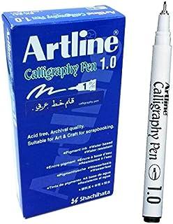 Artline Calligraphy 1.0 mm Pen - Black (PACK OF 12)