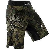 SMMASH Combat 3.0 Shorts MMA Mens, Professional Sportswear, Antibacterial Material, Perfect to MMA, BJJ, Grappling, Krav Maga, Kick Boxing, UFC, Workout Shorts Made in Europe (S)