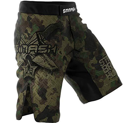 SMMASH Combat 3.0 Herren Sport Shorts für Boxen, Kampfsport, MMA, UFC, Training Sporthose Kurz für Männer, Crossfit Trainingshose Atmungsaktiv und Leicht, Hergestellt in der EU (L)