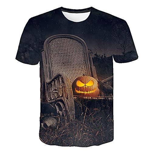 2021 Halloween Camiseta Hombre Manga corta Moda Casual T-shirt Blusas camisas Impresión Talla grande Camiseta originales Cuello redondo hombre suave básica Verano otoño camiseta deportiva Top