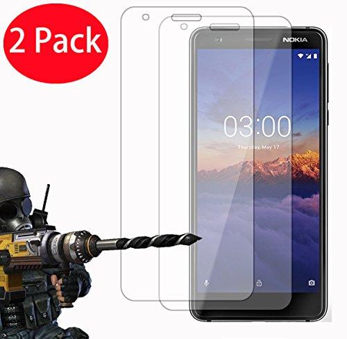 2 Pack – Nokia 3.1 Protector de Pantalla, FoneExpert Ultra Tanque Transparente Cristal 9H Cristal…